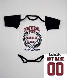 Coyotes Summer Baby Bodysuit Newborn One Piece Custom Infant Romper Fan  Personalized Jersey B b21018cd9