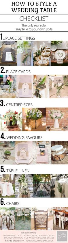 The ultimate checklist on how to style a wedding table!