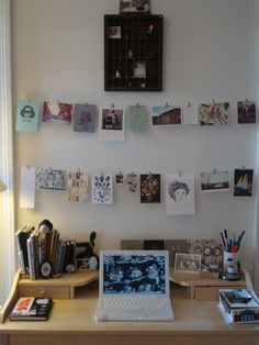 desk and picture decor idea