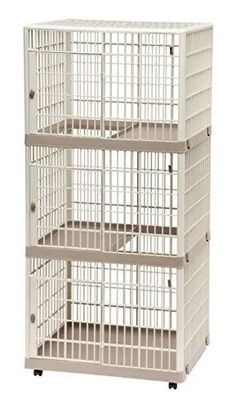 IRIS Multi-Level Cat Condo / Cage ** Check this awesome product by going to the link at the image. (This is an affiliate link and I receive a commission for the sales) Cat Cages Indoor, Cat Apartment, Cat Playpen, Cat Crate, Cat Hacks, Cat Store, Cat Carrier, Cat Condo, Like A Cat