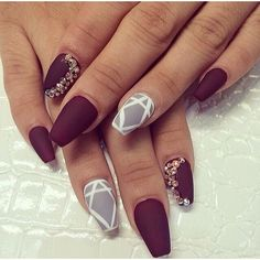 Stiletto Nails Nail Trends Nail Art On Pinterest Pointy Nails Tumblr... ❤ liked on Polyvore featuring beauty products, nail care, nail treatments and nails