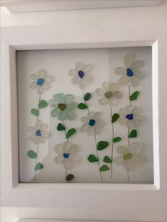 Pretty Flowers. North East Coast Sea Glass.