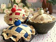 Nice pie pincushions