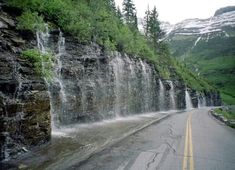 One of my favorite places in the world: Going to the Sun Road - Weeping Wall - Glacier National Park, Montana by minerva Oh The Places You'll Go, Places To Travel, Places To Visit, Dream Vacations, Vacation Spots, Ville New York, Voyager Loin, To Infinity And Beyond, Adventure Is Out There