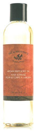Pre De Provence Argan Silky Body Oil, 8 Fluid Ounce by Pre de Provence. $15.49. Use after shower, in bath or as a massage oil. Sinks into skin leaving no oily residue. Not tested on animals. Pre De Provence is a French line of soaps, bath and shower gels, oils, fragrance and hair care. They are aromachology and aromatherapy products that are made with only the finest ingredients. There is, of course, no animal testing.. Save 23%!