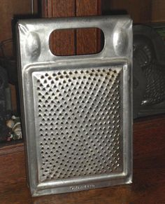 Primitive Large Old Tin Grater ~ Pat. June 11 1878 - $41.00