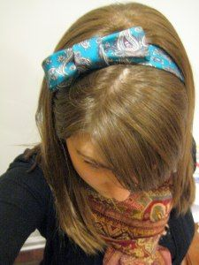 DIY Turn tie into a headband.