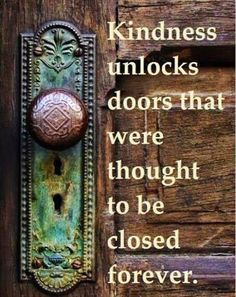 kindness and locked doors