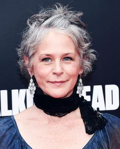 Melissa McBride attend AMC presents 'Talking Dead Live' for the premiere of 'The Walking Dead' at Hollywood Forever on October 23, 2016 in Hollywood, California