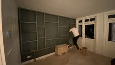 Bauhaus Interior, Tall Cabinet Storage, Bookcase, Ikea, New Homes, Shelves, Flooring, Living Room, Architecture