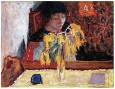 Pierre Bonnard (French, 1867-1947), Woman with Mimosa, 1924. Oil on canvas, 48.3 × 61.9 cm.