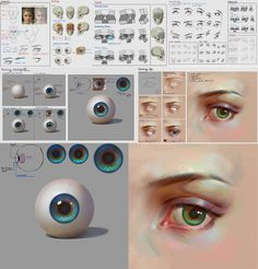 This is third and final of my facial features series tutorial. Eye Drawing Tutorials, Digital Painting Tutorials, Digital Art Tutorial, Art Tutorials, Drawing Techniques, Drawing Tips, Eyes Artwork, Coloring Tutorial, Poses References
