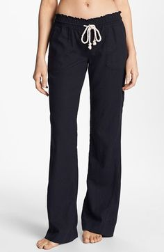 I would wear these anywhere, and buy them in every color they have and wear them all the time... Just me?  Roxy 'Oceanside' Beach Pants | Nordstrom