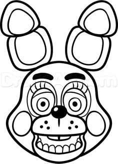five nights at freddy's pictures in black and white | ... -toy-bonnie-from-five-nights-at-freddys-2-step-9_1_000000178148_5.png