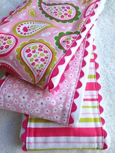 Baby Girl Burp Cloths  Cloth Diaper Burp by SweetBabyBurpies