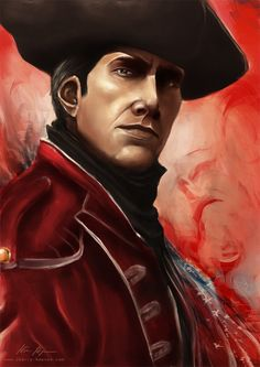Haytham Kenway, Assassin's Creed III    Another AC-portrait, and I absolutely adore Haytham. He's such a great character. I wanted to paint him in the red coat because it's little bit different, and the red looks delicious.