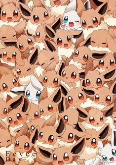 Eevee Day ... Let's see... theres some #ShinyEevee and some normal #Eevee I need to hug all these Eevee
