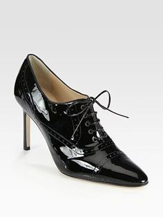 Manolo Blahnik - Patent Leather Lace-Up Oxfords. I need these. : )