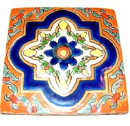 The Mexican Talavera, Alhambra, Caribe Collections, hand-crafted in Mexico, continues a tile tradition that utilizes many design motifs and symbols of 13th century Spanish, Moorish, Mediterranean styles brought to the Mexico.