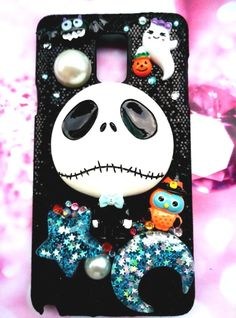 Samsung Galaxy Note 4 phone case the nightmare before christmas on glittering