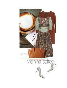 """Morning coffee"" by merima-kopic ❤ liked on Polyvore featuring J.Crew, Lattori, Furla, dress and lattori"