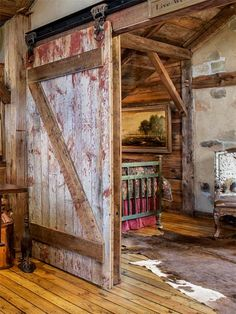 ohhhhh that door....So You Want to Live in a Barn: Skinning and Salvaging for barn remodeled into comfy house