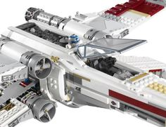 LEGO Star Wars 10240 Red Five X-Wing Starfighter. Includes R2-D2 astromech droid. Features highly authentic detailing and opening wings and cockpit. toys4mykids.com