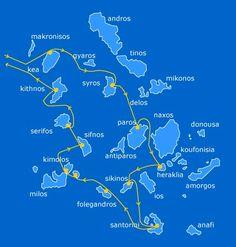 Island hopping in Greece visiting Serifos Sifnos Paros Santorini