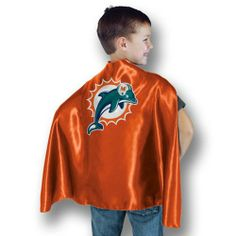 Miami Dolphins Halloween Costumes- since when does a team cape constitute a costume?