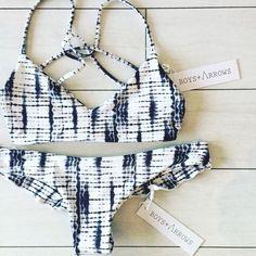 Boys + Arrows bikini in Wildchild navy and white print.