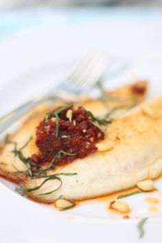Tilapia With Sun-Dried Tomato Pesto | Cooking For Keeps