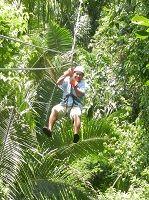 Zip-Lining in Belize