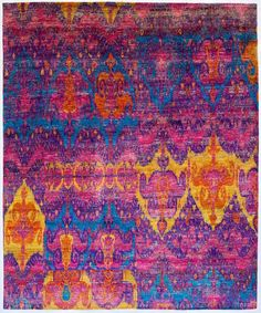 "Ethos Collection 7'9""x9'10"" silk rug"