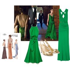 Other variations on green dress