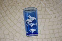 Vintage Hazel Atlas Hunt Pattern Cobalt Blue And by WisdomLane, $12.00