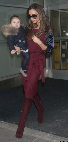 Victoria Beckham and Harper arrive in New York For NYFW