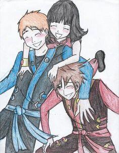 Jay, Nya y Kai