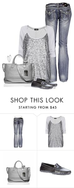 """""""silver sparkle"""" by fluffof5 ❤ liked on Polyvore featuring Miss Me, MANGO, Reed Krakoff, Tod's and Mystic Light"""