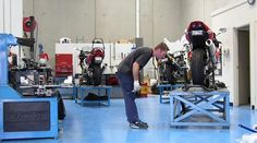 """Very """"clean"""" motorcycle workshop"""