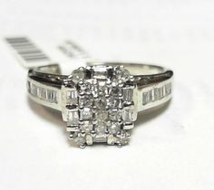 0.69ct Diamond Engagement Ring 14k white gold closeout deal #SolitairewithAccents