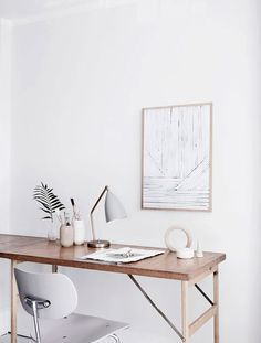 whitewashed working space. / sfgirlbybay