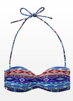 Aztec Bandeau Bikini Top - Garage   The design on this bikini is absolutely adorable @Katie Schmeltzer Kader Centre