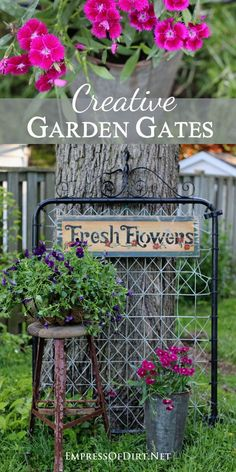 Want to make a grand entrance to your garden? Add a fabulous garden gate! Or tur… Want to make a grand entrance to your garden? Add a fabulous garden gate! Or turn one into garden art or trellis or whatever you like! Garden gates are simply charming! Garden Junk, Garden Cottage, Garden Art, Garden Design, Fence Design, Backyard Gates, Backyard Landscaping, Backyard Playground, Backyard Bbq