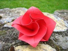 Papier falten: Origami Blume falten - Basteln Ideen - Geschenkideen - DIY - Blüte basteln mit Papier - YouTube