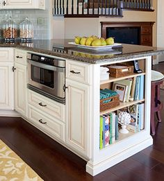 Hmmm... Trying to reconfigure the placement for a microwave in my kitchen! Possible clever idea too!