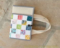 Make It Blossom by Sandra Clemons: Tutorial Bible Book Cover Bible Bag, New Bible, Notebook Covers, Journal Covers, Fabric Book Covers, Bible Covers, Sewing Projects For Beginners, Diy Tutorial, Paper Crafts
