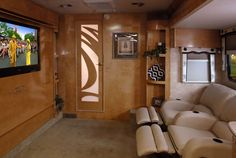 RV with home theater and reclines