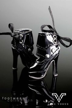 Handmade barbie Doll shoes in black patent leather by Blueberry3, $15.99