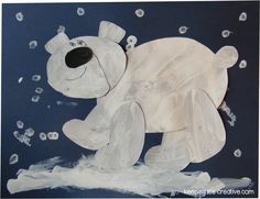 Painted Polar Bear Art Project