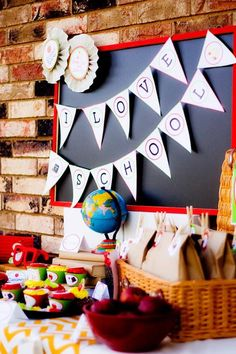 CUTE back to school book exchange party with tons of ideas! Via Kara's Party Ideas KarasPartyIdeas.com - THE place for all things party!